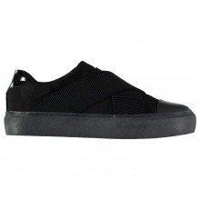 Fabric Cross Over Ladies Trainers