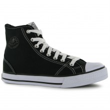 Dunlop Ladies Canvas High Top Trainers