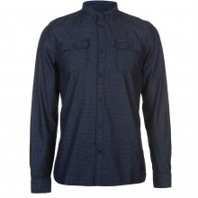 Firetrap Blackseal Dobby Chambray Shirt