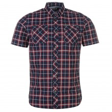 Firetrap Blackseal Canvas Check Shirt