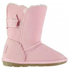Crafted Bow Snug Boots Girls