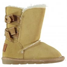 Crafted Suede Snug Boots Girls