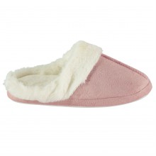 Heatons Faux Fur Mule Slippers Ladies