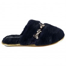 Rock and Rags Jewelled Slipper Mules Ladies