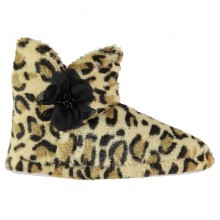 Rock and Rags Leopard Slipper Boots