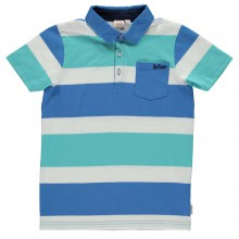 Lee Cooper Stripe Polo Shirt Junior