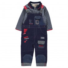 Lee Cooper 2 Piece Overall Set Baby Boys