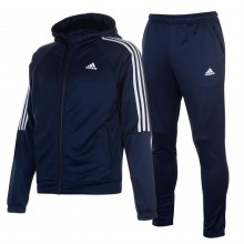 adidas Focus Hooded Poly Tracksuit Mens