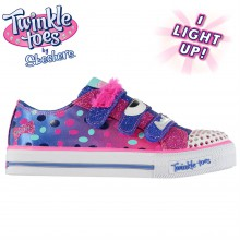 Skechers Twinkle Toes Shuffles Beauty Brows Trainers Child Girls