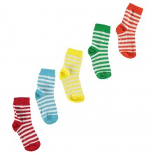 Crafted Essentials 5 Pack Stripe Socks Baby Boys