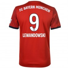 adidas Bayern Munich Lewandowski Home Shirt 2018 2019 Junior