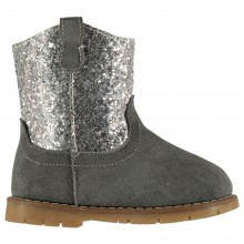 Crafted Suede Glitter Boots Infant Girls