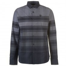 Firetrap Long Sleeve Check Shirt Mens