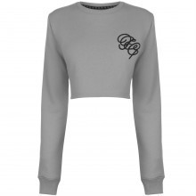 Fabric Embroidered Crop Sweater