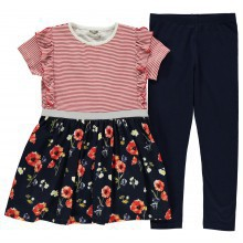 Crafted 2 Piece Dress and Leggings Set Infant Girls