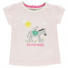 Crafted Short Sleeve Applique T Shirt Child Girls